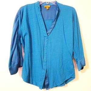 Nicole Miller blouse 3/4 sleeve